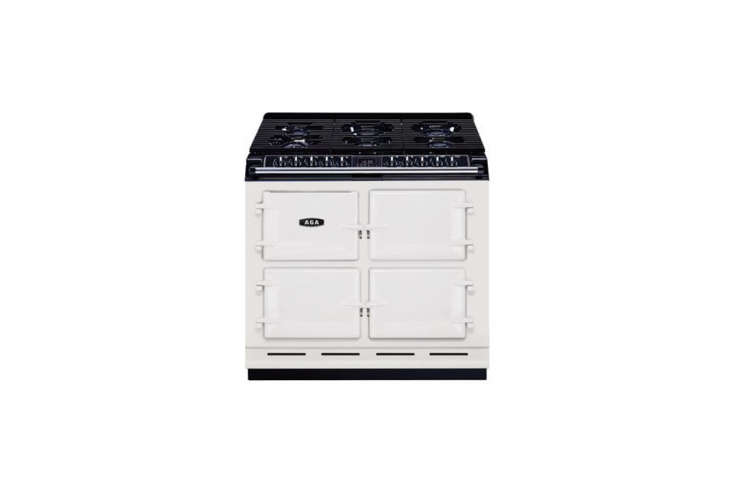 Aga also offers versions with standard gas burners and electric ovens like the Aga Six-Four Range through an Aga dealer. Those of us lacking the roominess of an English country house can still capture the manor look with the smaller Companion Range (with four burners and two ovens); $5,749 at AJ Madison or through an Aga dealer.