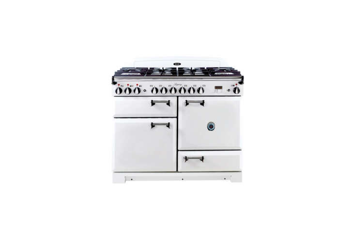 Another option with see-through oven doors: the Aga Legacy Dual-Fuel 44-inch Stove with six burners (four in the middle, and two deep burners on either side); $7,499 at AJ Madison or through an Aga dealer.