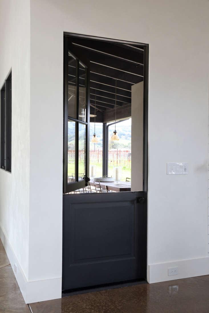 black dutch door to backyard sonoma
