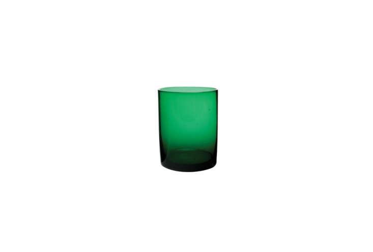 TheMaryclare Tumbler in green is currently on sale for $8.99 each at Canvas Home.
