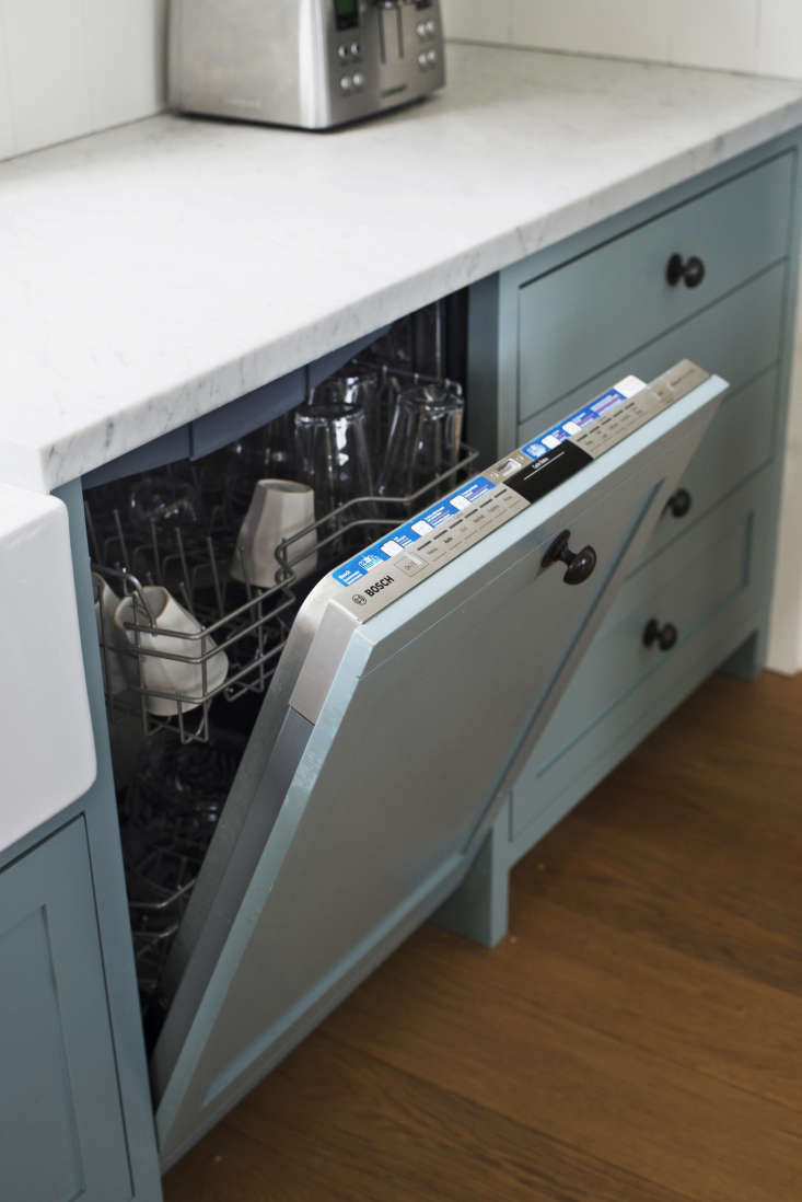 A front-loading, panel-ready dishwasher from Bosch.