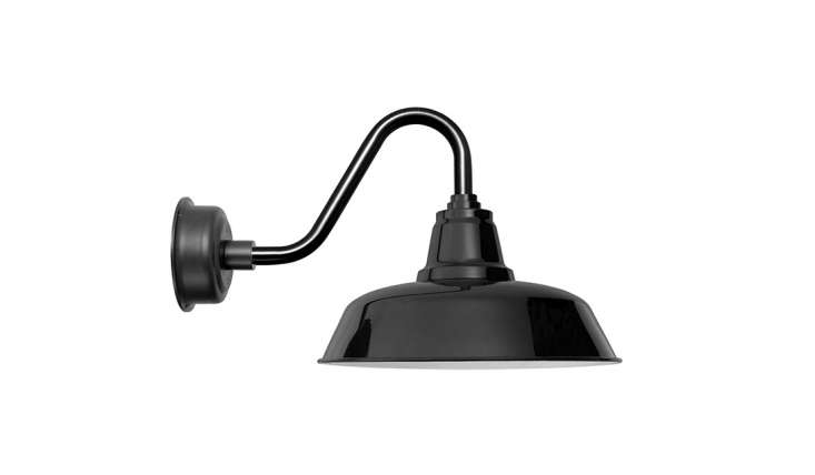 One of two traditional barn light designs, Goodyear lights start at $9; the combination shown here, the -Inch Black Goodyear Vintage LED Barn Light, is $9.