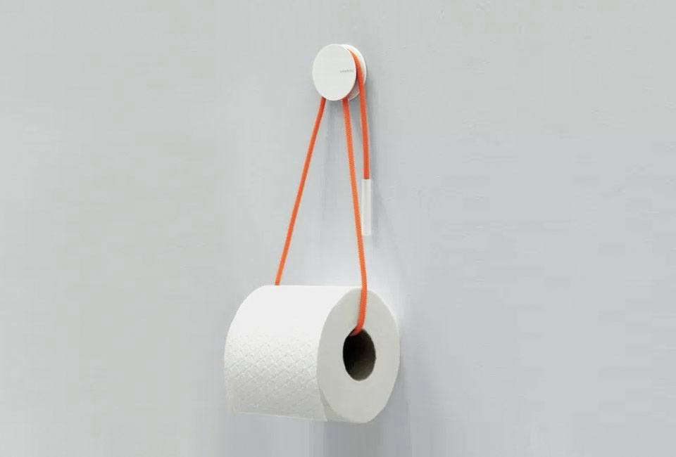 Add a dash of color to the bathroom with the Diabolo Holder, a simple rope and metal hub inspired by sailing equipment and designed by London-based Yang:Ripol Design Studio for Vandiss; $49 at Gessato.