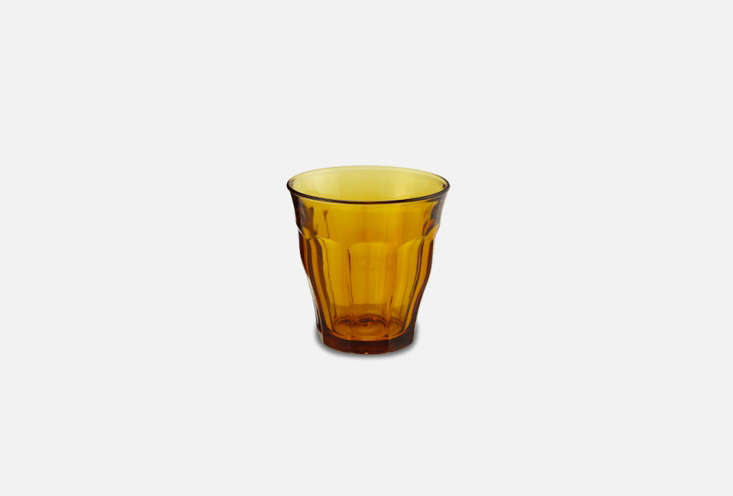 Duralex Picardie Glass Tumblers in Amber are available on Amazon; $30.96 for a set of six.