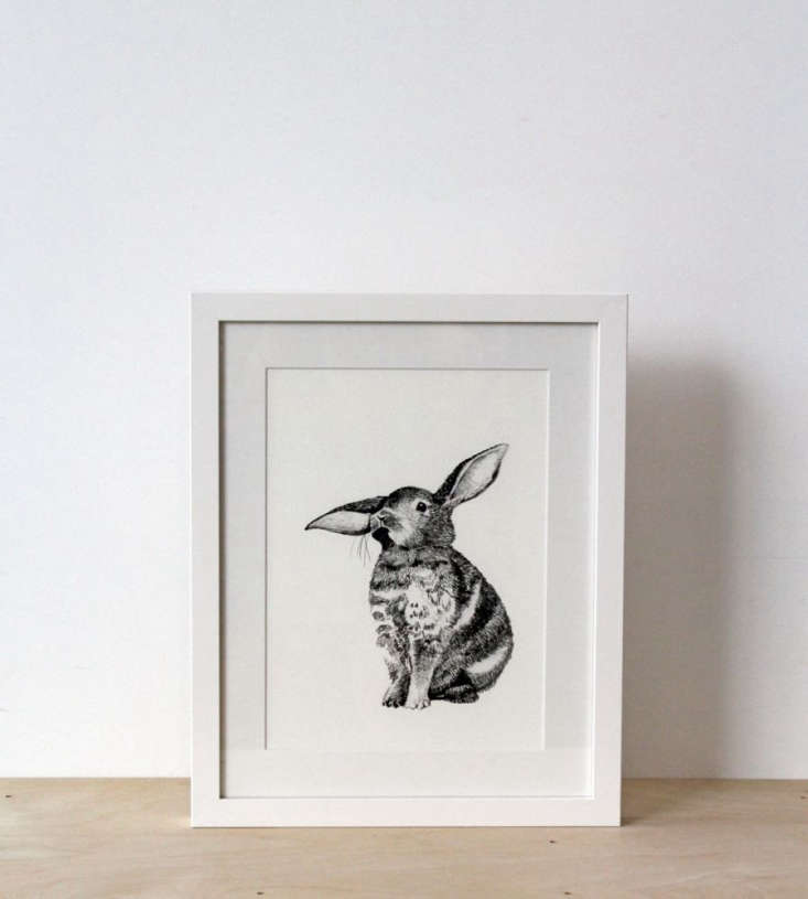 Also from Father Rabbit, a floppy-eared fellow featured in a Bunny Framed Print; $99 AUD ($75 USD).