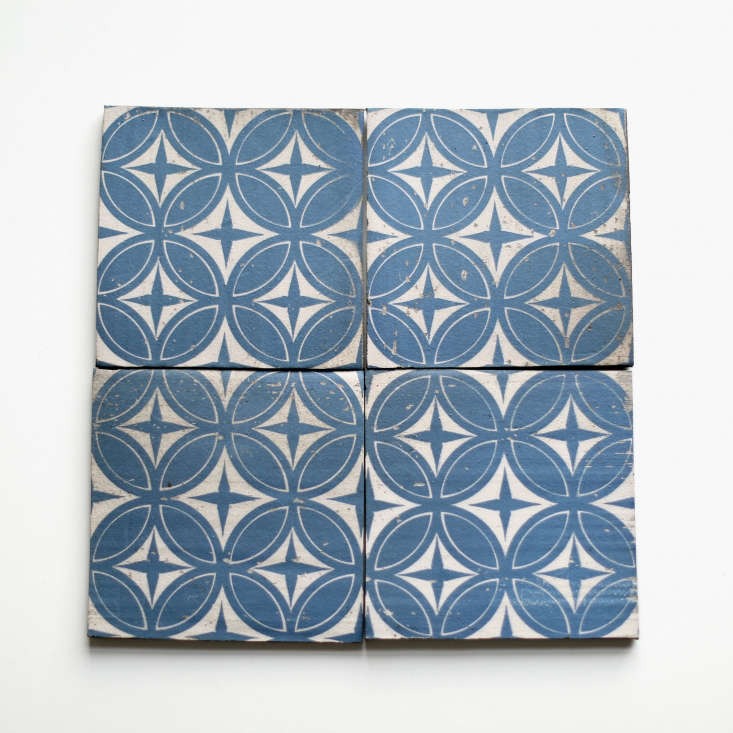 The Asia Blue Delft tiles are $.50 each (minimum order of 40 tiles) from Clé Tile.