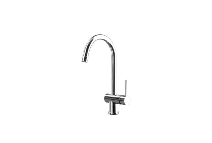 "The Spin Sink Mixer with Swiveling Spout from Gessi comes in chrome (shown), brushed chrome, and ""Finox."" Contact Snyder Diamond for more information."