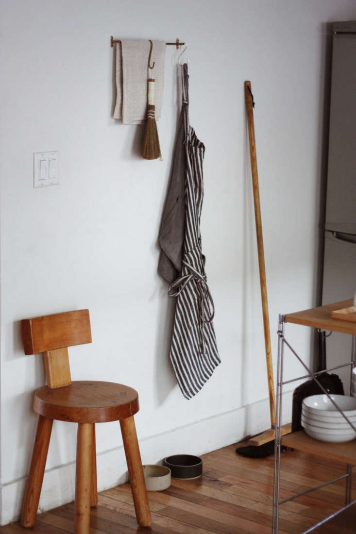 Why hide the utility closet if your cleaning supplies are this nice?