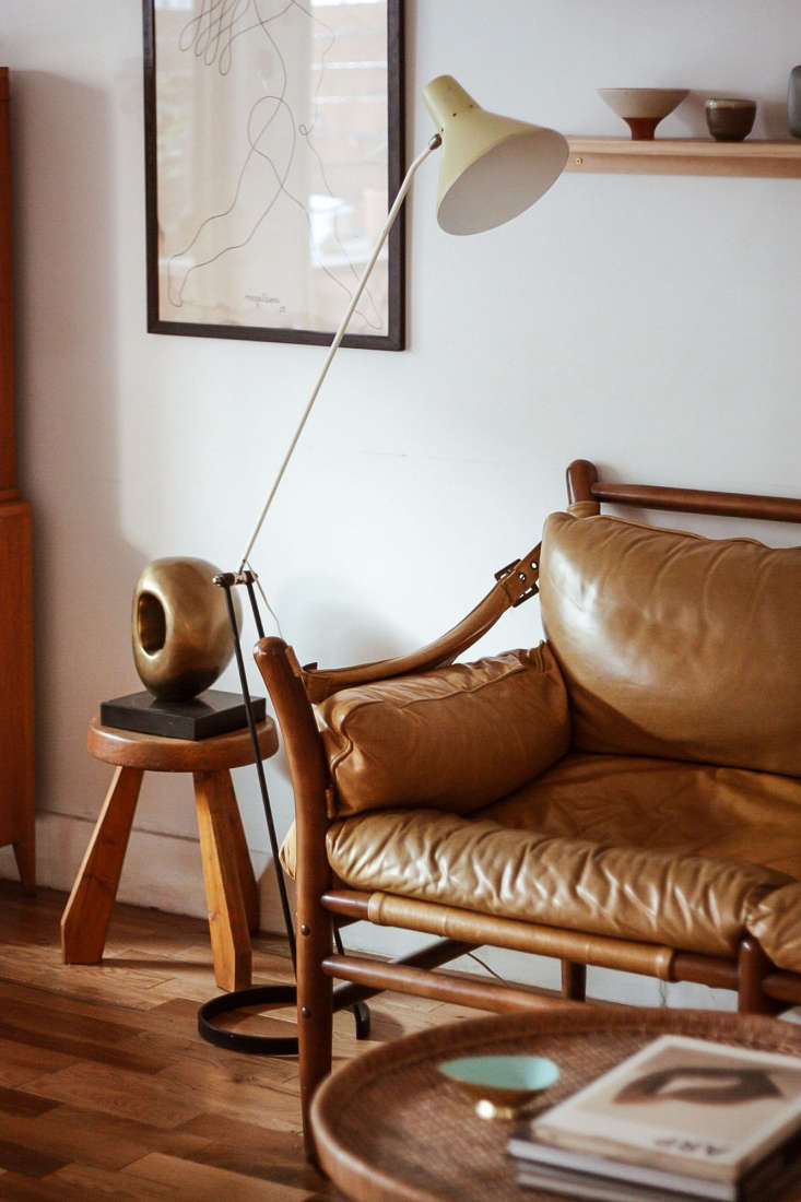 kirill found many of the items in his home, such as this vintage lamp from swed 10