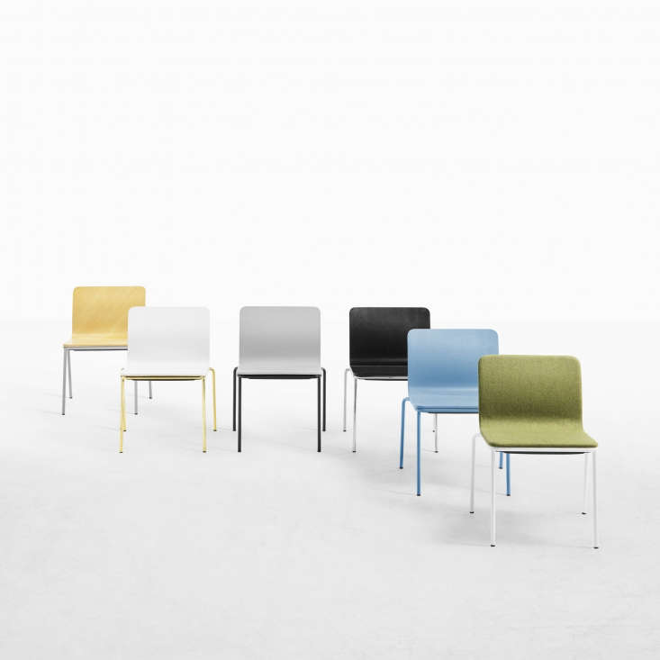 the stackableles chair fits as easily in the dining room as it does in the  15