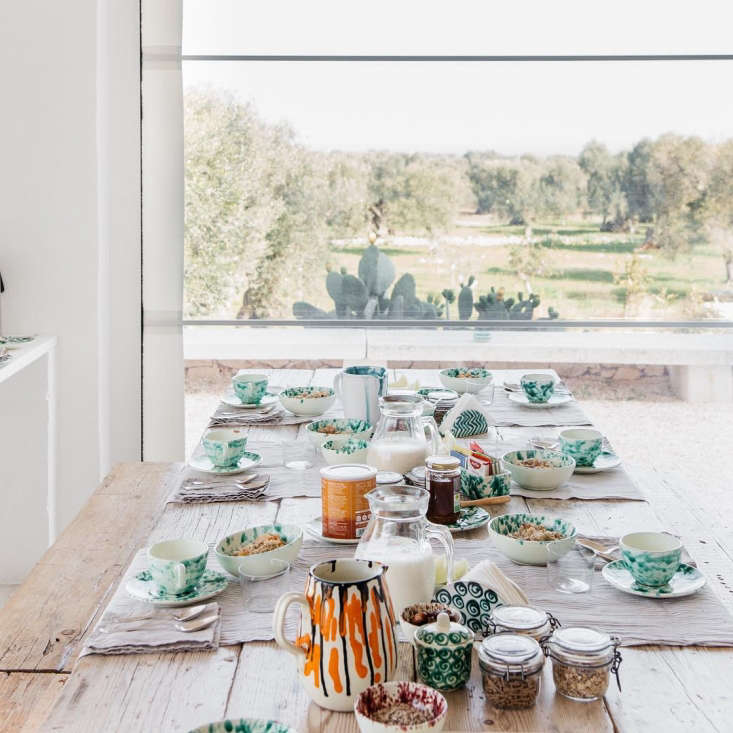 instead of using a single table runner down the length of the table, masseria m 10