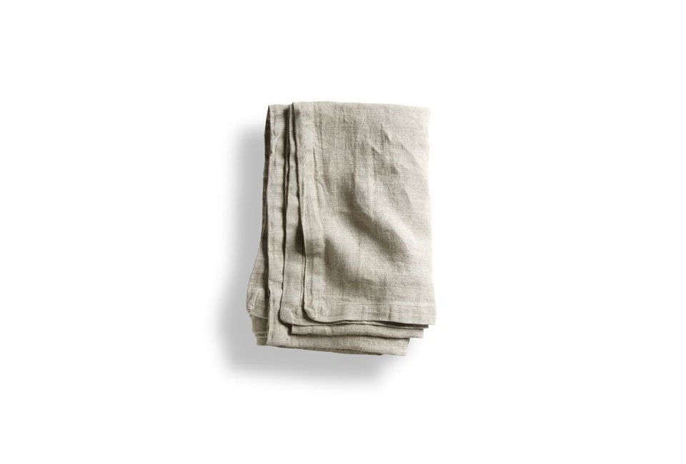 The Sanders Linen Throw Blanket in Loomstate is $