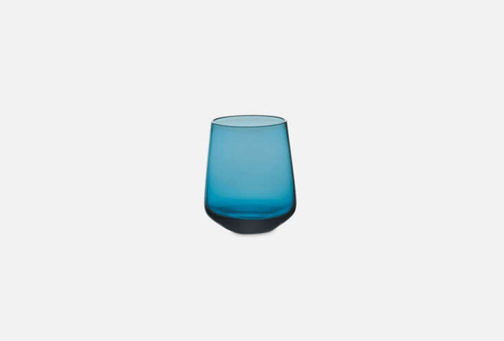 the blue glass is another made in italy glass from merci; \$8.4\1 each. 21