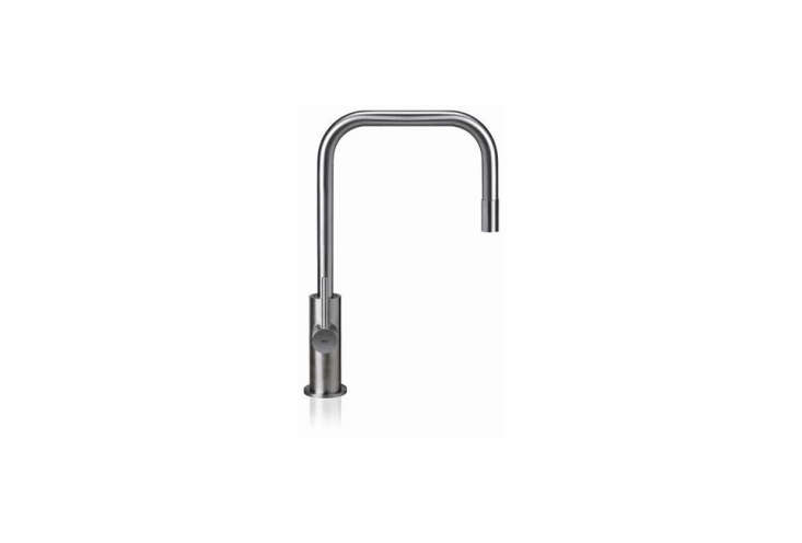 From Milan-based MGS Faucets, theSpin SQE Kitchen SS Faucet in stainless steel has a pullout spout. It's $loading=