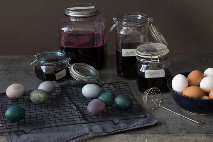 Though not required, a tea strainer and baking rack will come in handy for plucking the eggs out of the dye and letting them dry.
