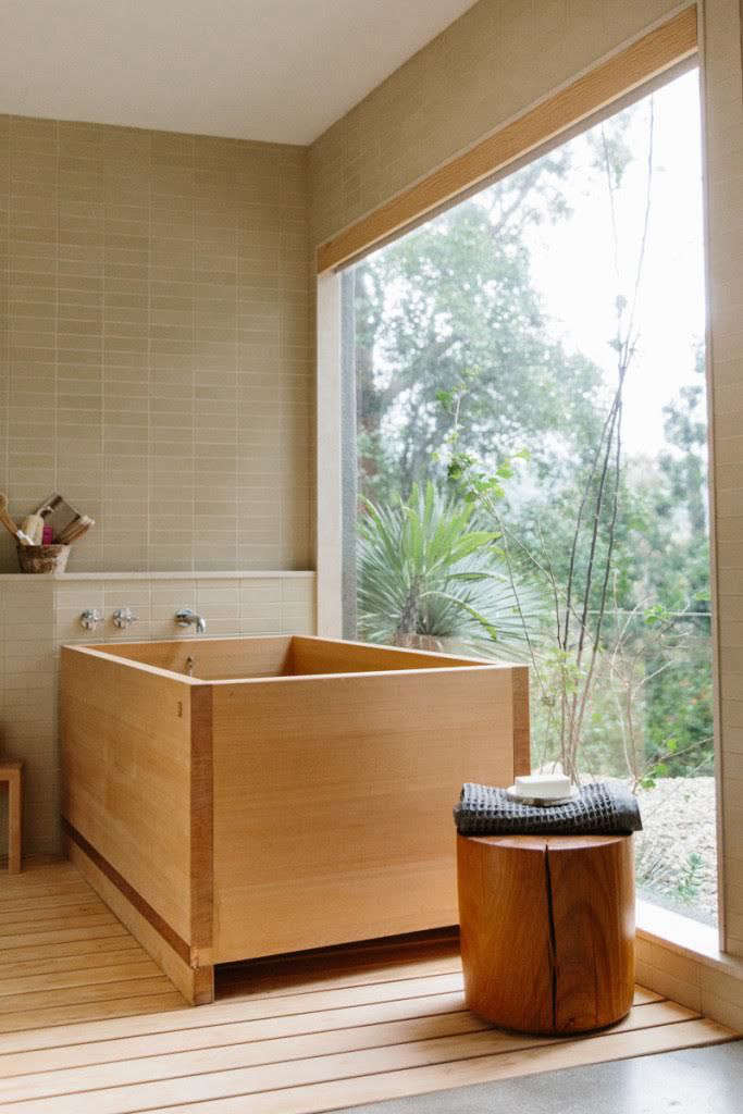 We love ofuros, Japanese soaking tubs. See How to Bathe, Japanese-Style for more ideas to steal. Photograph by Nicki Sebastian, courtesy of Rip & Tan.