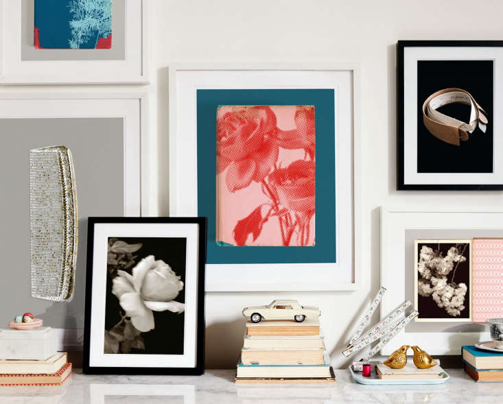 an art wall comprised of prints from two permanent press collections features a 10