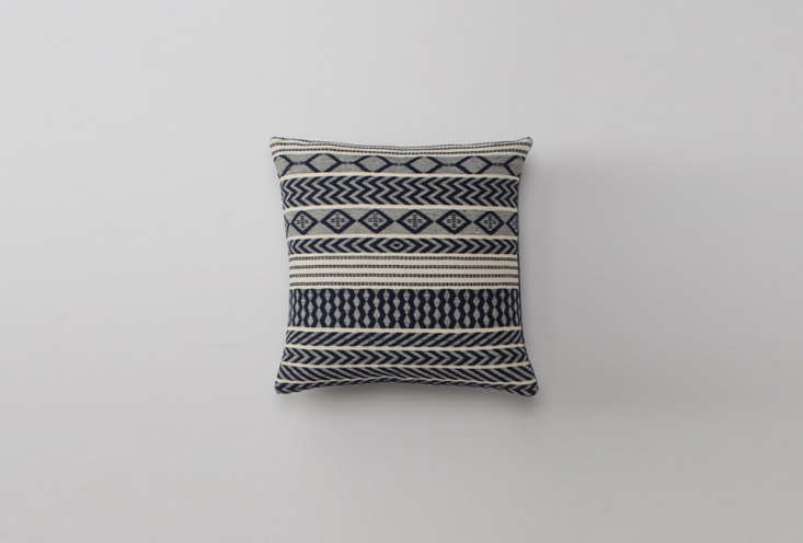The Handwoven Mayan Throw Pillow in navy is at Schoolhouse Electric; $8.