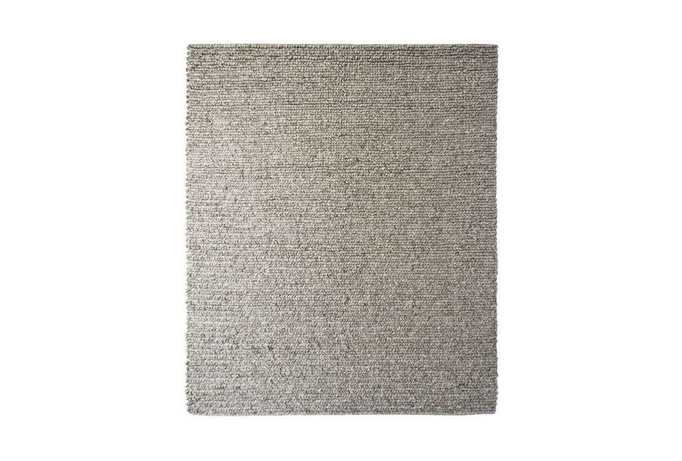 The Serena & Lily Braided Wool Rug in Heathered Grey is made of New Zealand wool; $698 to $
