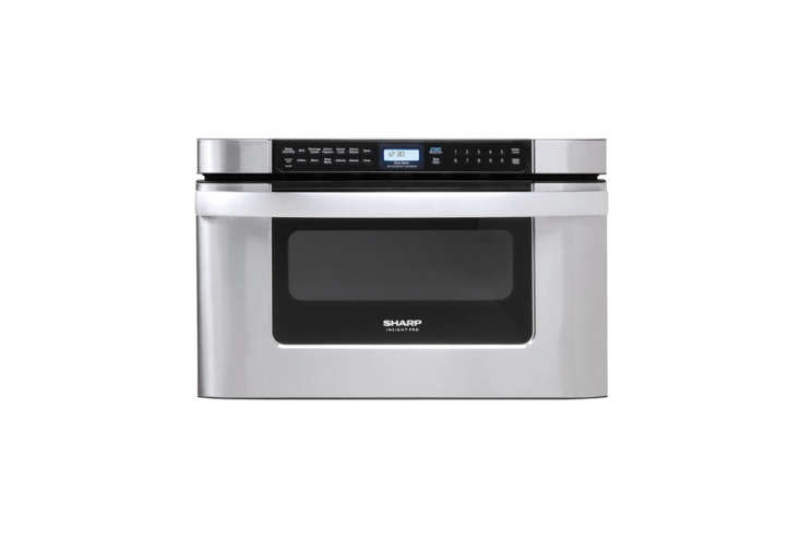 10 Easy Pieces Builtin Microwaves One of the more affordable built in drawer models is the Sharp Insight Pro Series Microwave Drawer. It offers an unusual push or pull opening option; \$947 at Abt.