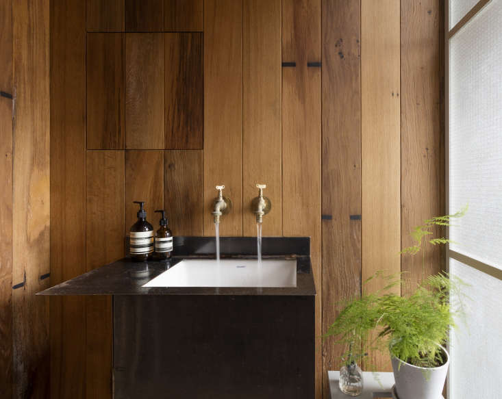 The customsink is made of mild steel that will weather with use and develop a wabi-sabi appeal. Astridge sees it as &#8