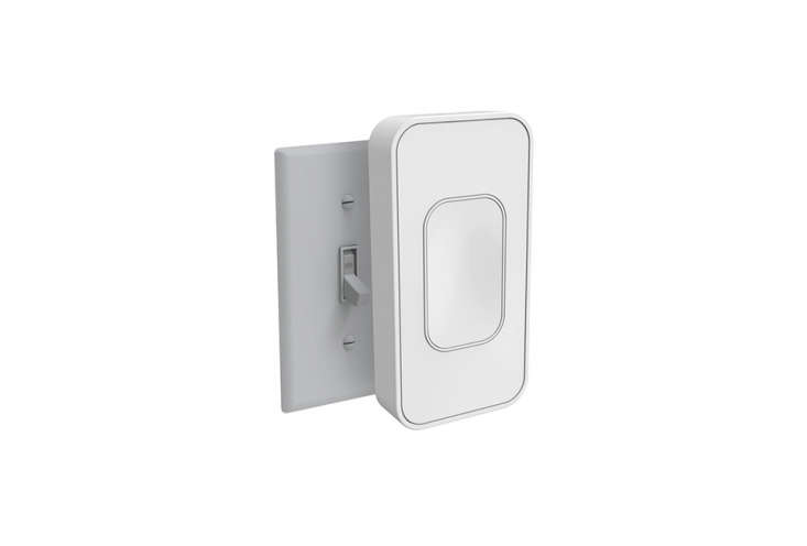 Looking for an option without rewiring? The Switchmate Light Switch Toggle ($.97) attaches magnetically to existing switches (avoiding the need for an electrician) and can be controlled via an app, but it can only turn lights fully on or fully off. For more automatic on/off switches, see our earlier post Lights Out: Sensor Light Switches.