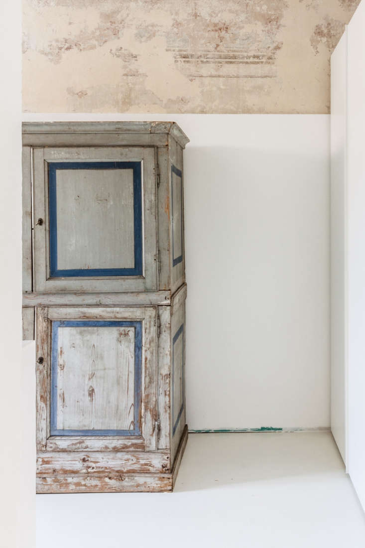 vintage gray and white blue armoire two toned wall archiplan studio