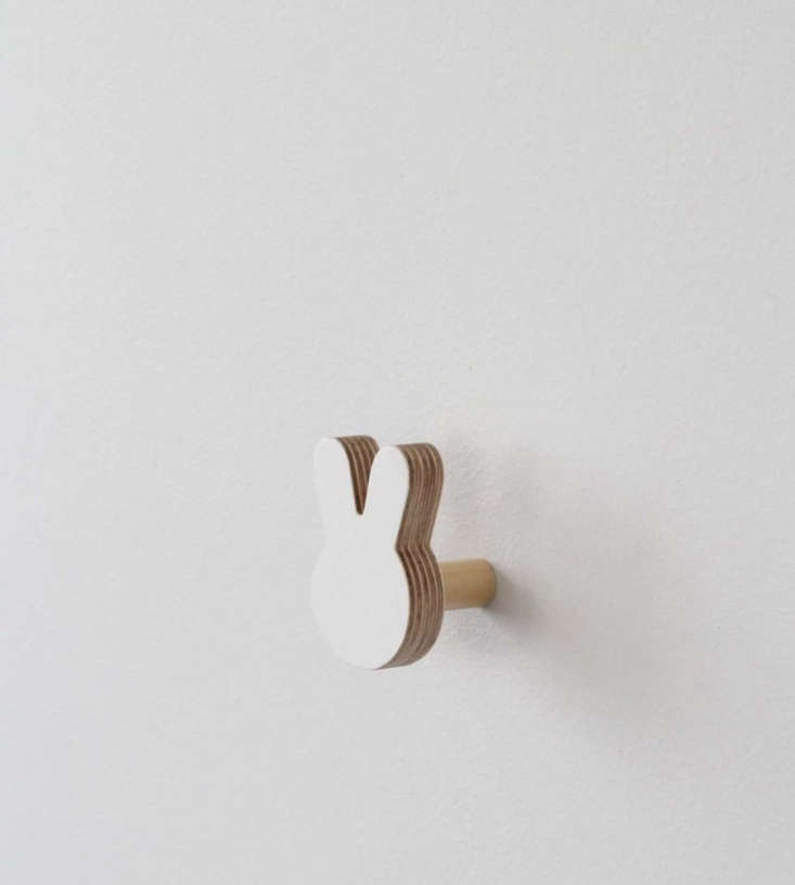 From one of our favorite shops, New Zealand (and online) boutique Father Rabbit, the playful White Bunny Wall Hook is $39.