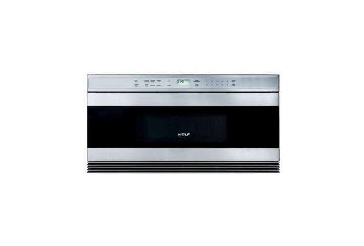 10 Easy Pieces Builtin Microwaves The Wolf 30 Inch Built in Microwave Drawer can be installed in a standard or flush inset application; \$\1,699 at Yale Appliance.