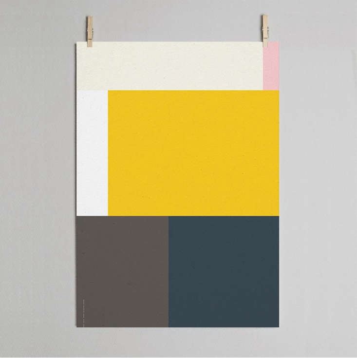 Paper Collective is another notable online poster shop based in Denmark that curates its own editions. In addition to printing on archival quality FSC-certified paper, it donates  percent of all sales to causes chosen by its artists. Wrong Geometry 05 is part of a series of five geometric prints by Wrong Studio of Copenhagen.