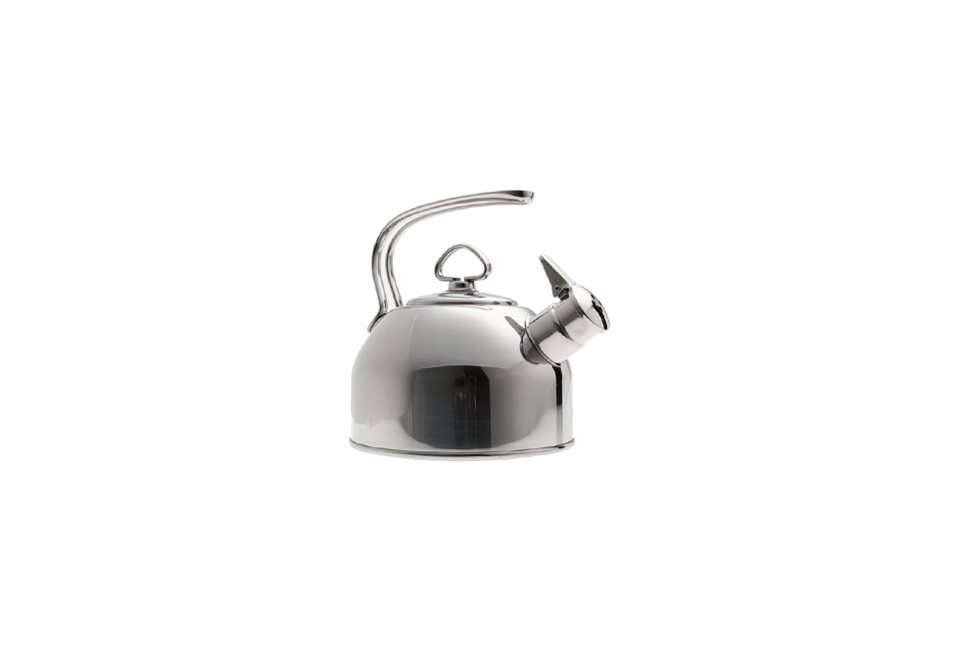 Steal This Look A Stylish Camp Kitchen in a Plywood Summer Cabin TheAll Clad Stainless Steel Tea Kettle is \$99.95 at Williams Sonoma. For more, see our post\10 Easy Pieces: Classic Teakettles.