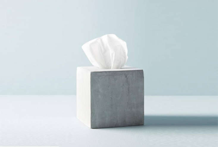 thesedra cement tissue box is \$\2\2 at anthropologie. 11