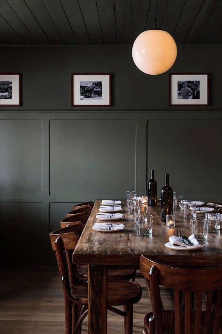 Go West A Mountain Lodge in Jackson WY by a Brooklyn Design Studio A simple table, set for dinner.