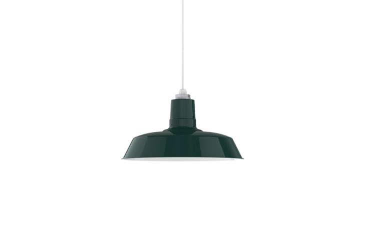 the original warehouse pendant light in dark green is \$\1\14 at barn light ele 12