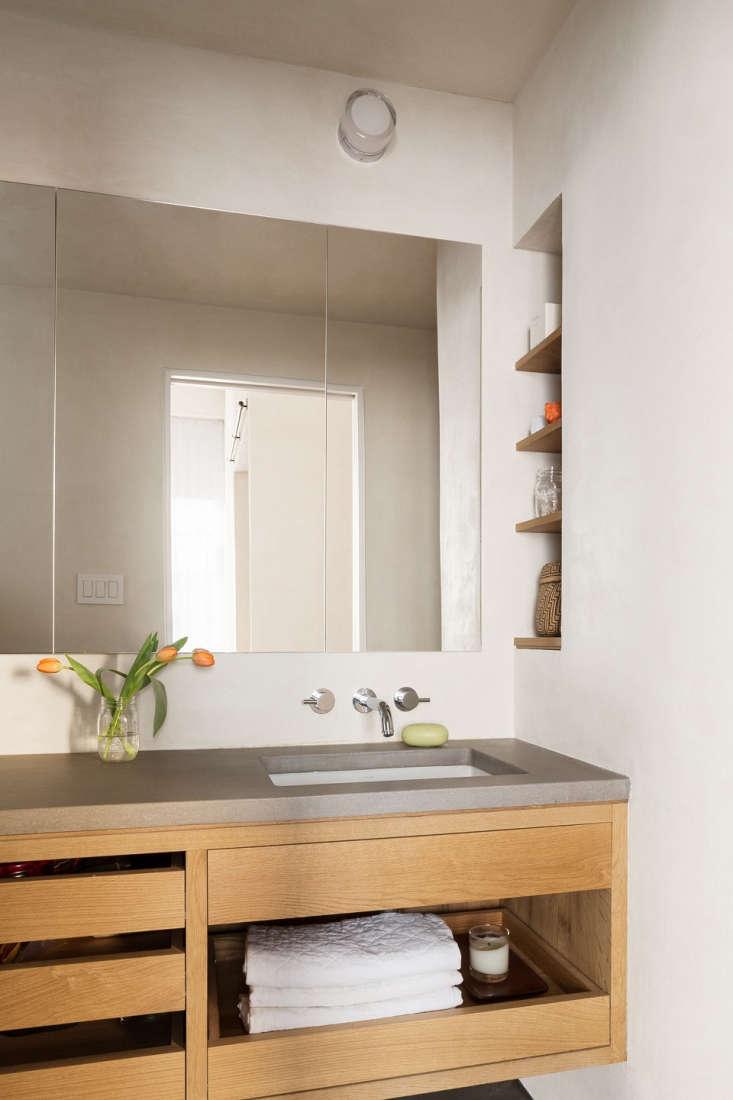 bathroom concrete countertop wood drawers vanity 1