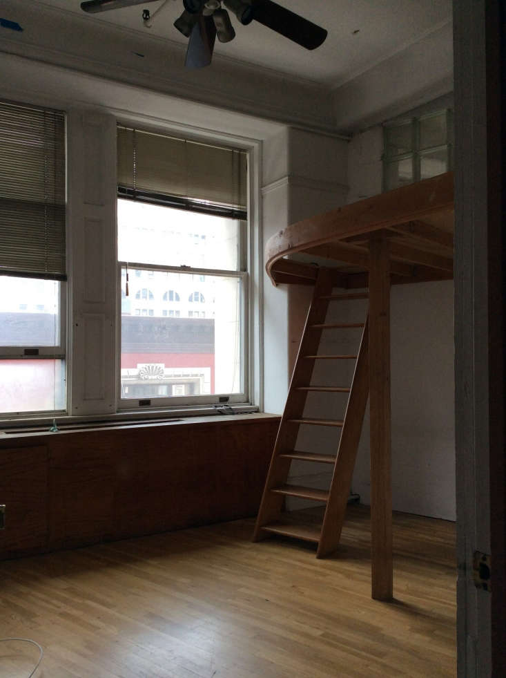 before photo nyc apartment lofted sleeping space
