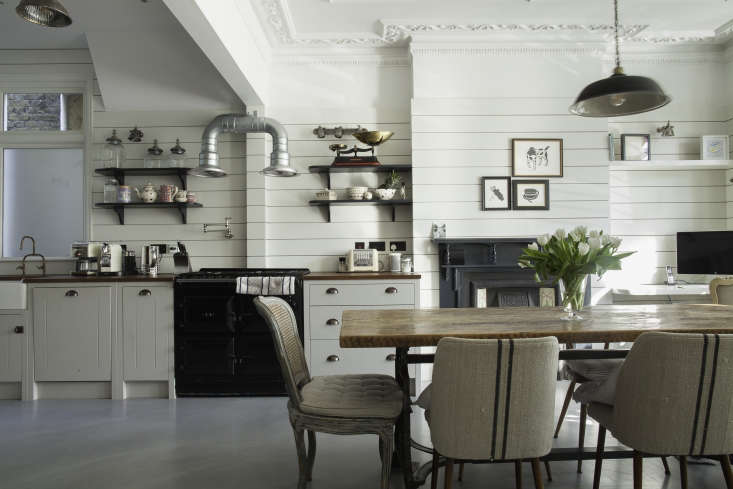 The idea for the shiplap paneling came from across the pond: &#8