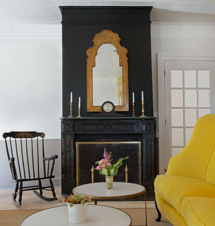 Updated Victorian, theChequit Inn on Shelter Island, New York,strikes avintage-modern balance with black accents and a bold yellow sofa. SeeThe Chequit Inn: A Grand Dame Reopens on Shelter Island.