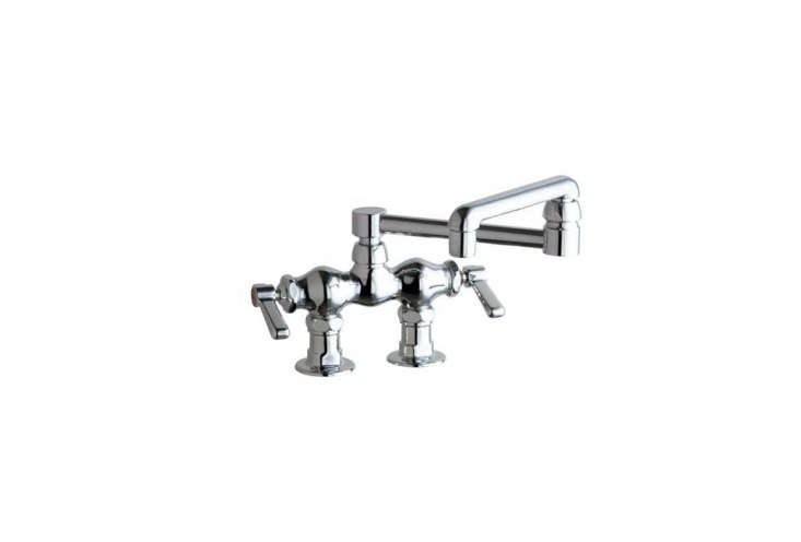 the chicago faucets \2 handle standard kitchen faucet is \$\233.\15 at home dep 17