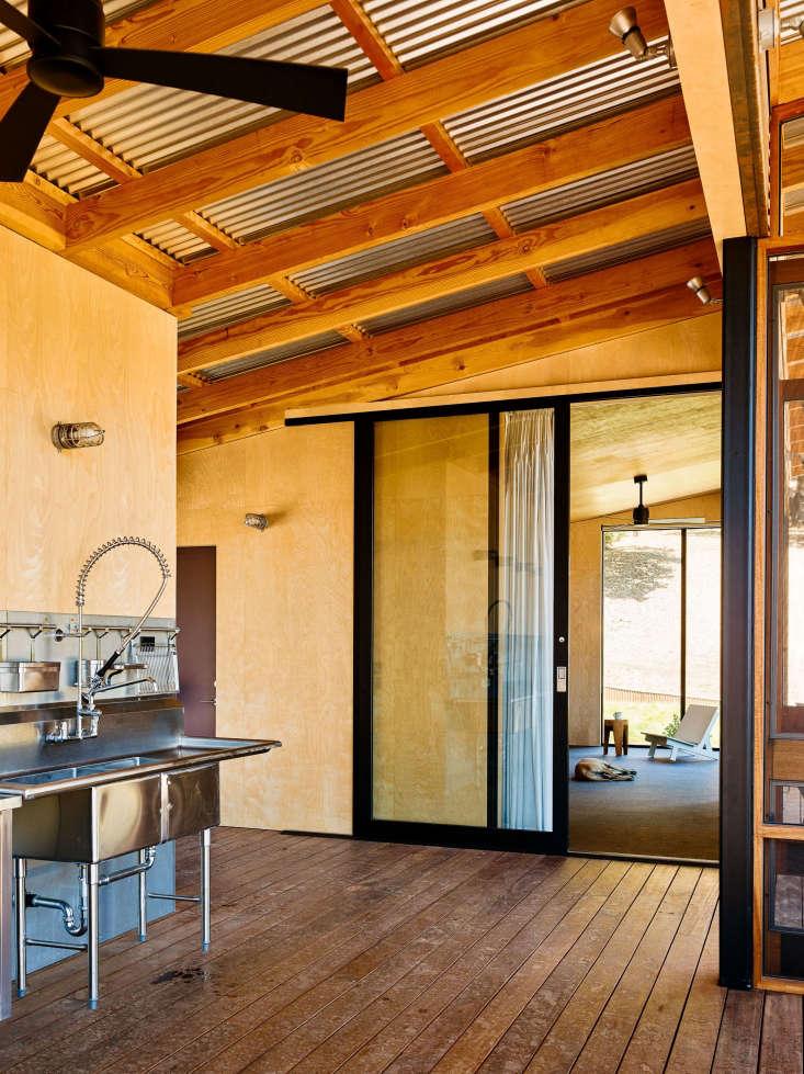 commercial industrial stainless kitchen inside camp estate healdsburg