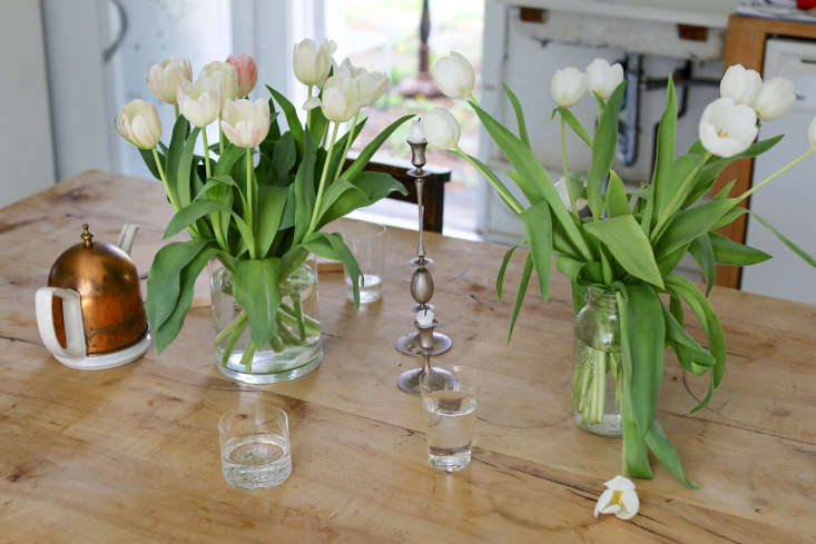 on the kitchen table, deborah&#8\2\17;s white wine glasses mingle with a pa 23
