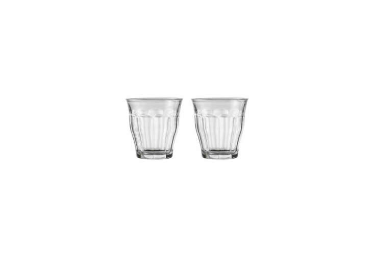 The Instant Kitchen Kit 20 Remodelista Favorites on Amazon Prime The Duralex Picardie Clear Tumbler is available in a range of sizes from tiny 3 \1/8 ounce glasses to \17.6\2 ounce glasses. Here the 8 3/4 ounce size is \$\2\1.80 on Amazon.