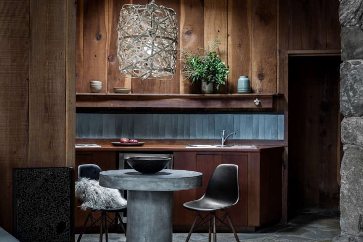 the kitchen backsplash is made of two by nine inch heath ceramics field tile  11