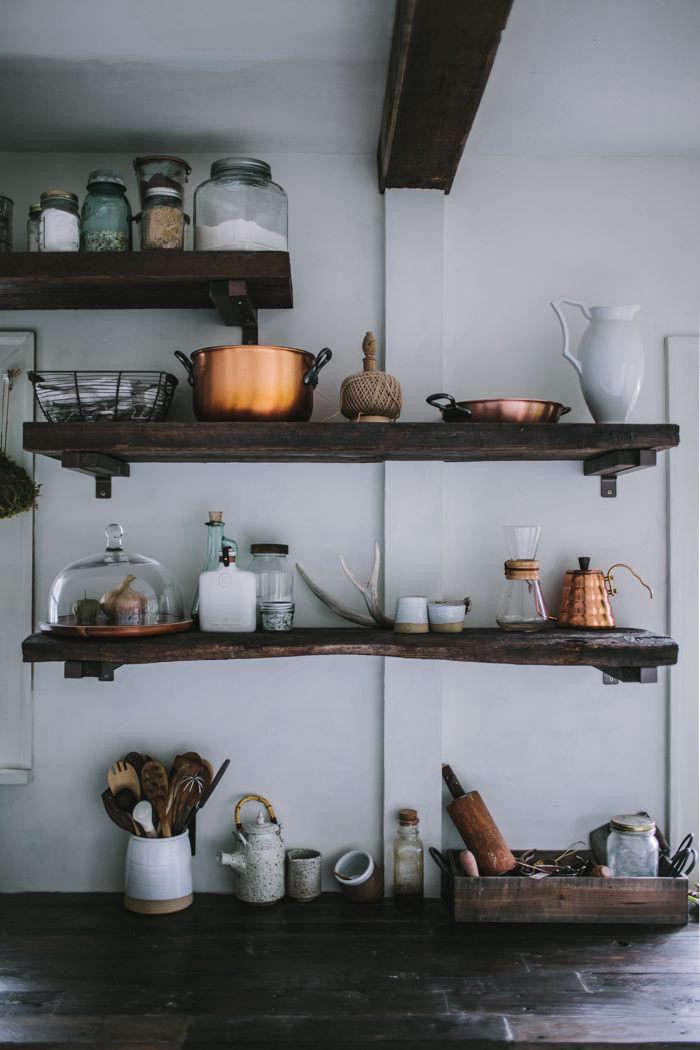 Eva Kosmas Flores Kitchen Remodel Shelves