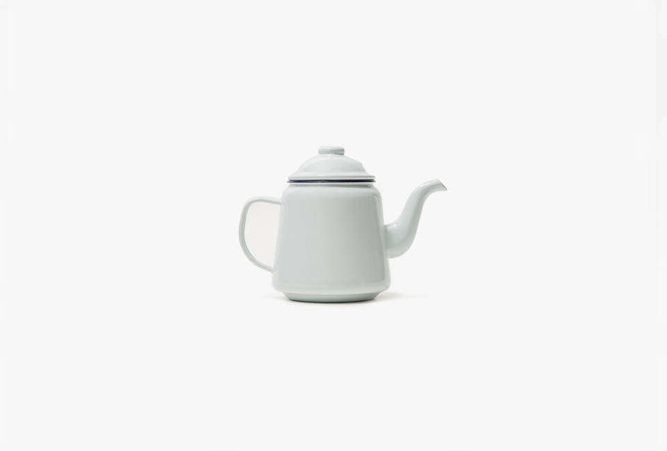 The Falcon Enamelware Teapot in White is $ at Need Supply.