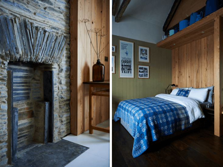 Bedroom details include fireplaces and more Welsh blankets.