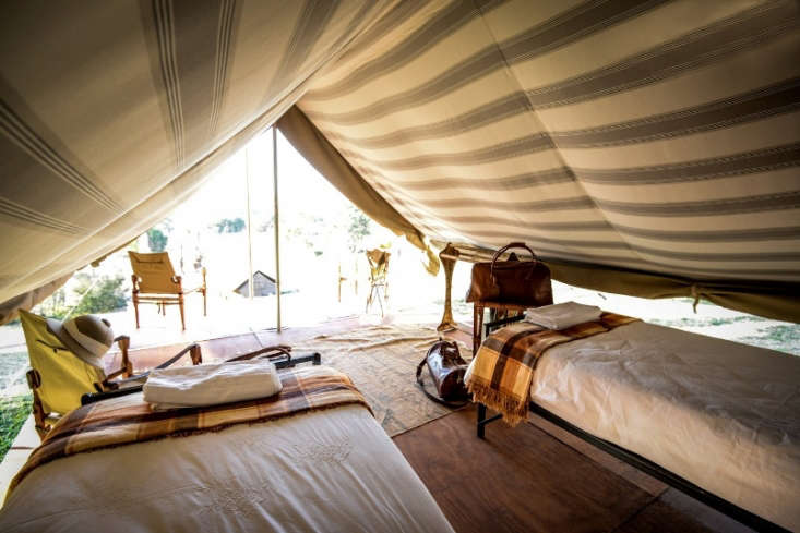 We like the Out of Africa feel of these safari tents near Golden Gate Highlands National Park in South Africa. Book through Glampinghub.com.