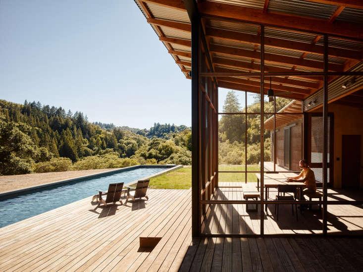 healdsburg california wine country camp estate pool porch