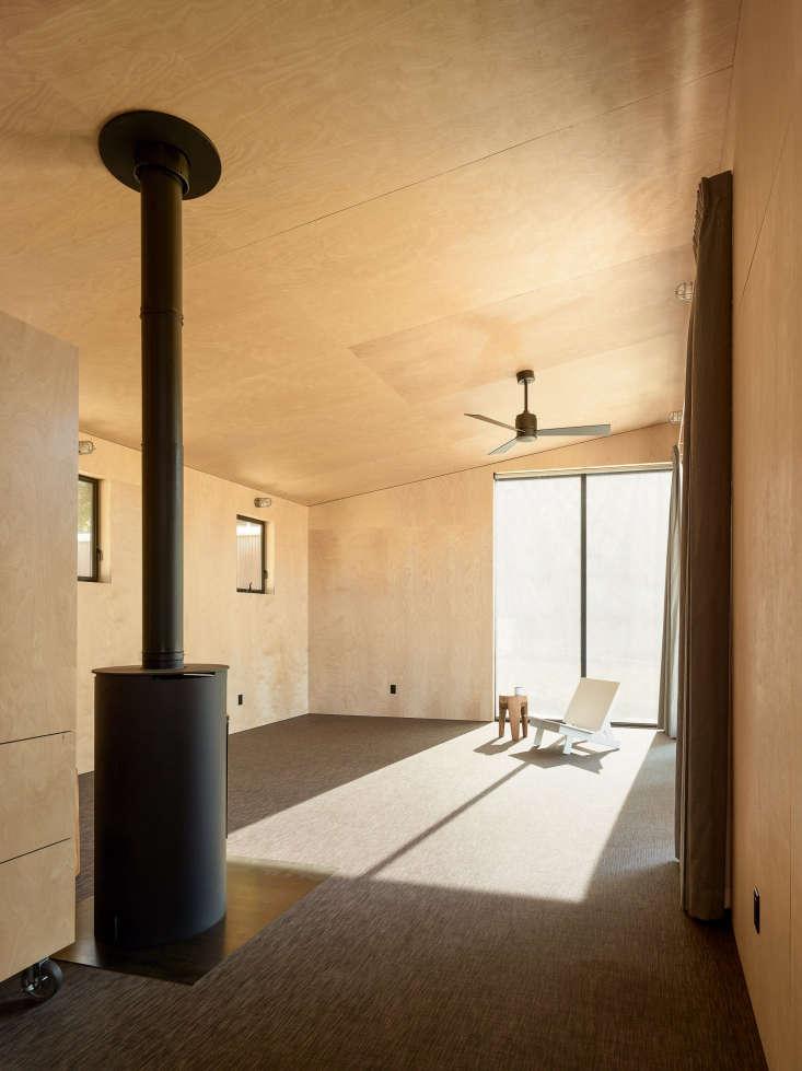 interior plywood room carpet wood stove healdsburg