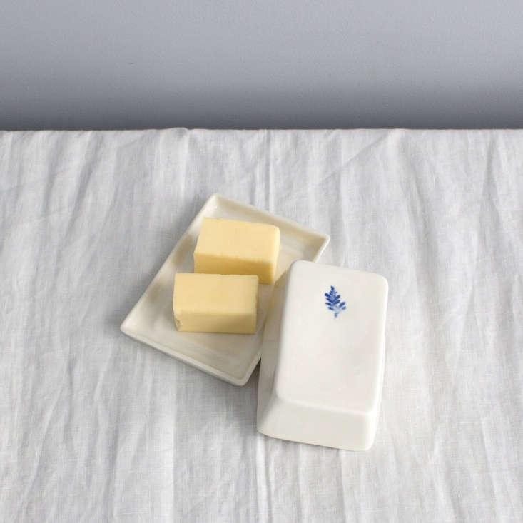 lavender butter dish ceramic lusitano portugal
